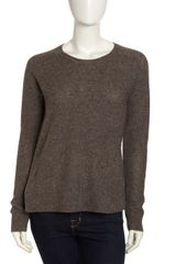 Vince Side Button Sweater Granite - Lyst