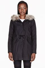 A.P.C. Black Shearling and Fur Mods Winter Parka - Lyst