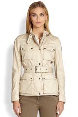 Belstaff Coated Cotton Twill Jacket - Lyst