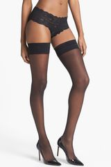 DKNY Sheer Thigh High Stockings - Lyst
