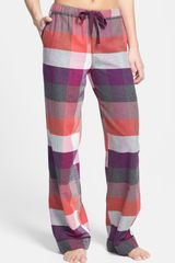 DKNY Winter Magic Flannel Pants - Lyst