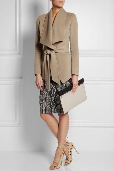 donna karan new york belted cashmere jacket in beige lyst. Black Bedroom Furniture Sets. Home Design Ideas