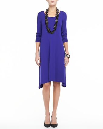 Eileen Fisher Scoopneck Jersey Dress - Lyst
