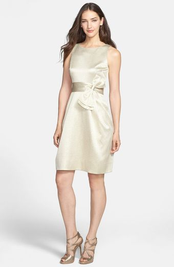 Eliza J Side Bow Jacquard Sheath Dress - Lyst