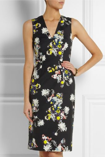 Erdem Darice Printed Twill Dress - Lyst