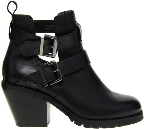 Asos Faith Spitalfield Black Buckle Ankle Boots in Black - Lyst