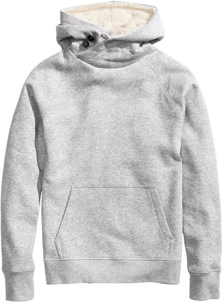 H&m Hooded Top in Gray For