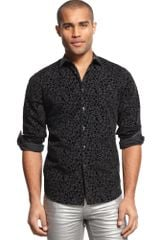 Inc International Concepts Long Sleeve Print Shirt - Lyst