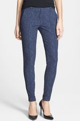 Kut From The Kloth Brittany Print Ankle Skinny Trousers - Lyst