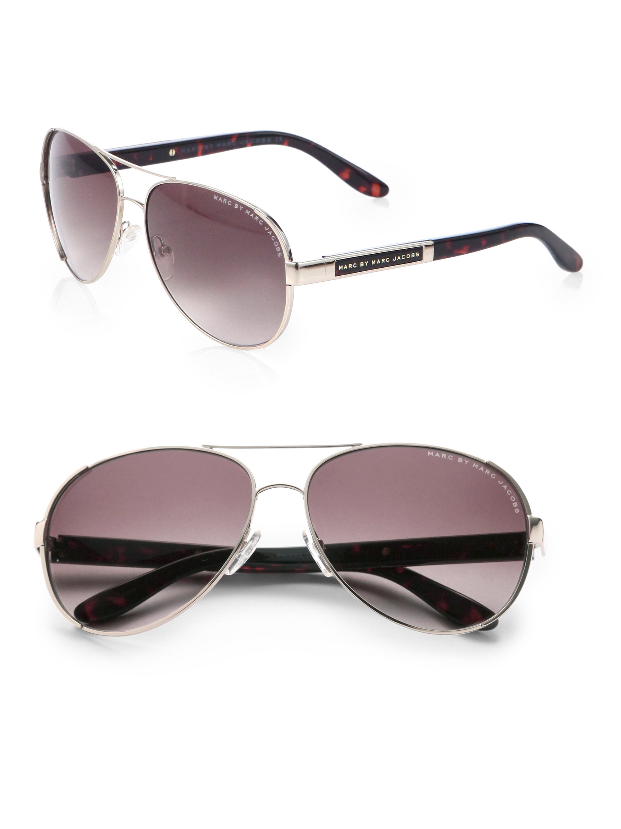 ddcf58bf594e Marc By Marc Jacobs Stainless Steel Aviator Sunglasses in Metallic ...