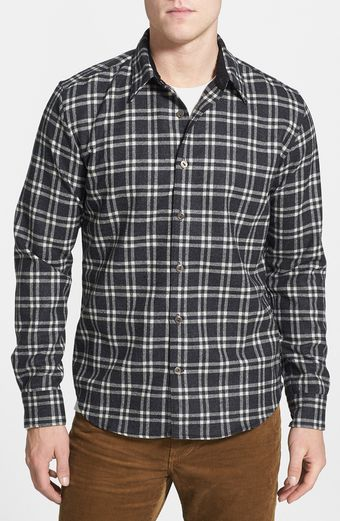 Pendleton Grant Plaid Wool Flannel Shirt - Lyst