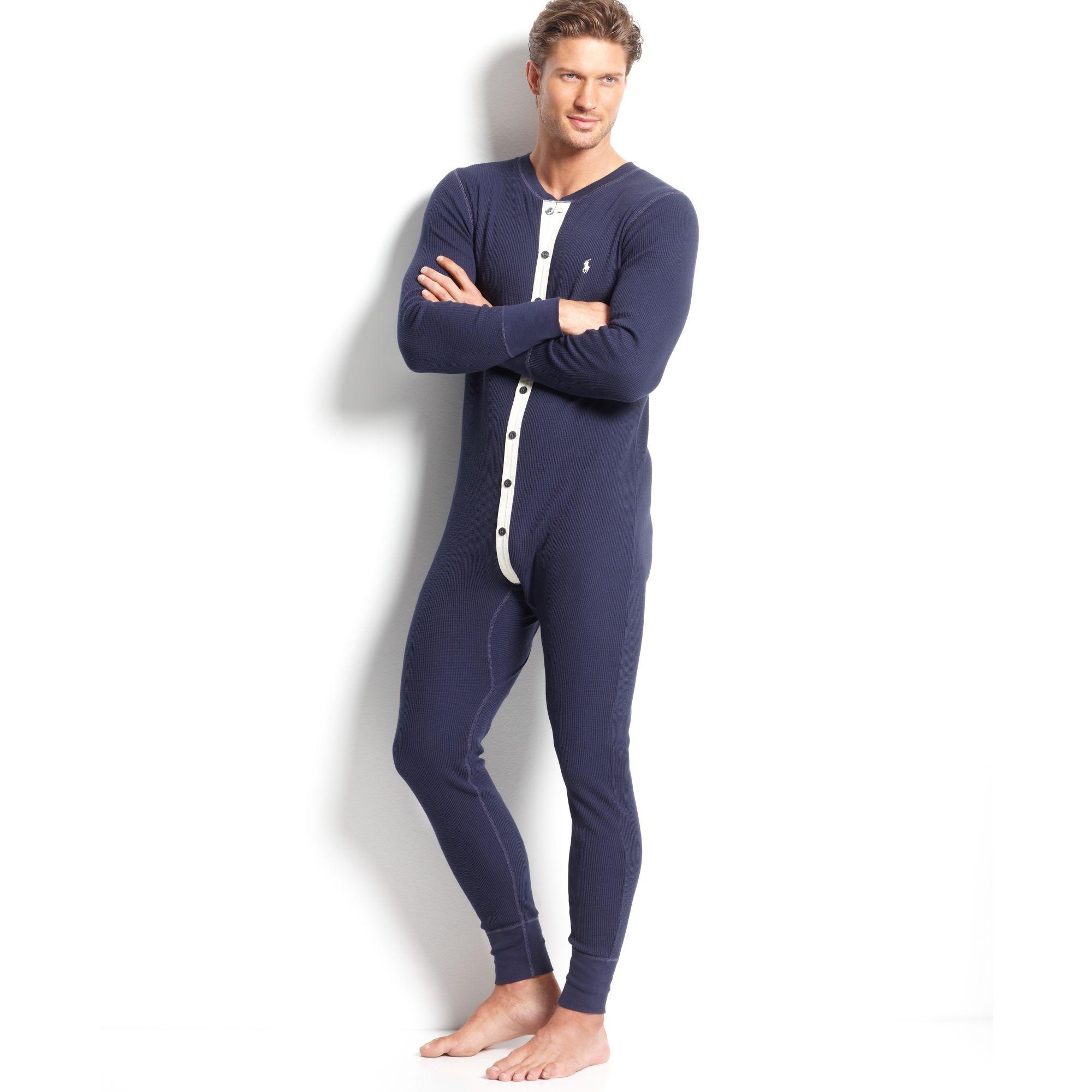 Lyst Ralph Lauren Thermal Union Suit In Blue For Men