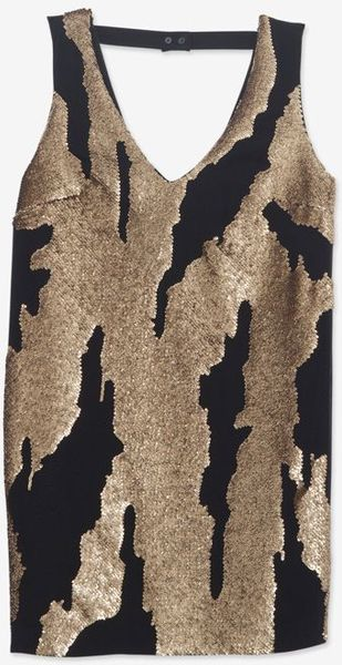 Robert Rodriguez Exclusive Distressed Sequin Mini Dress - Lyst