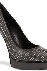 Saint Laurent Janis Studded Courts - Lyst