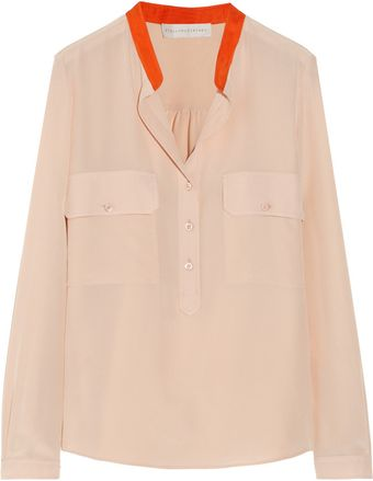 Stella McCartney Estelle Silk Crepe De Chine Shirt - Lyst