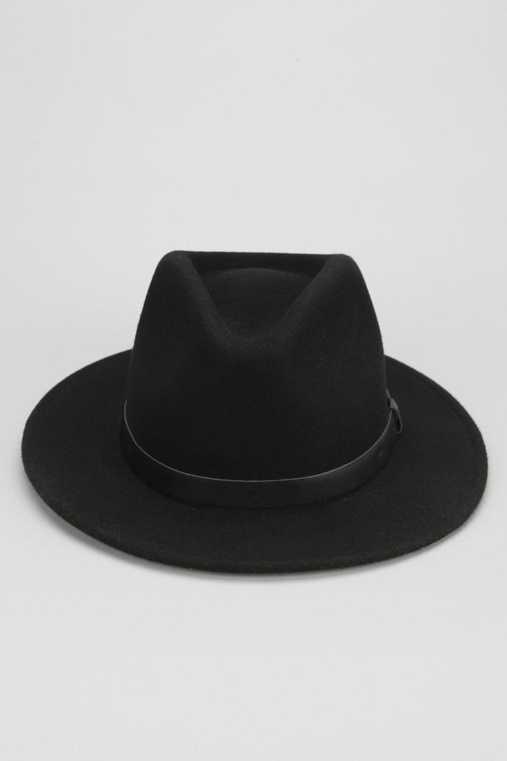 Urban Outfitters Brixton Messer Fedora In Black For Men Lyst