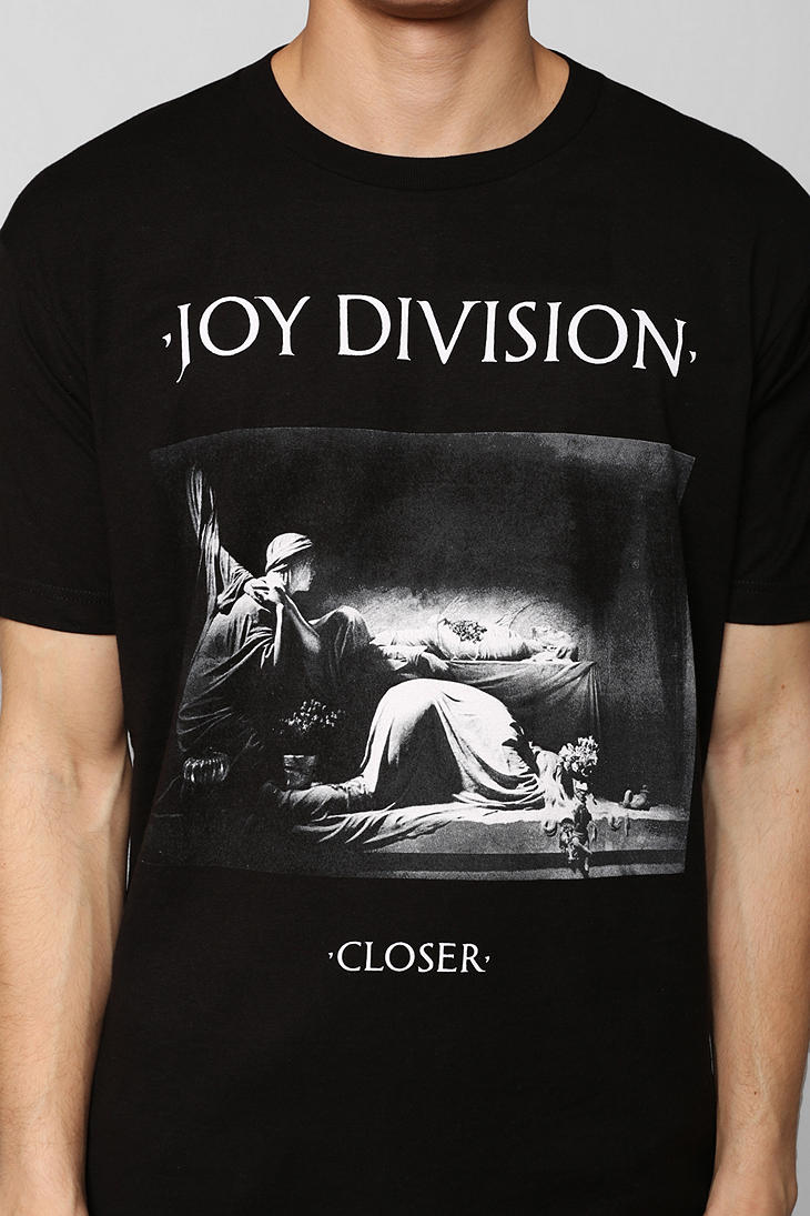 lyst urban outfitters joy division closer tee in black. Black Bedroom Furniture Sets. Home Design Ideas