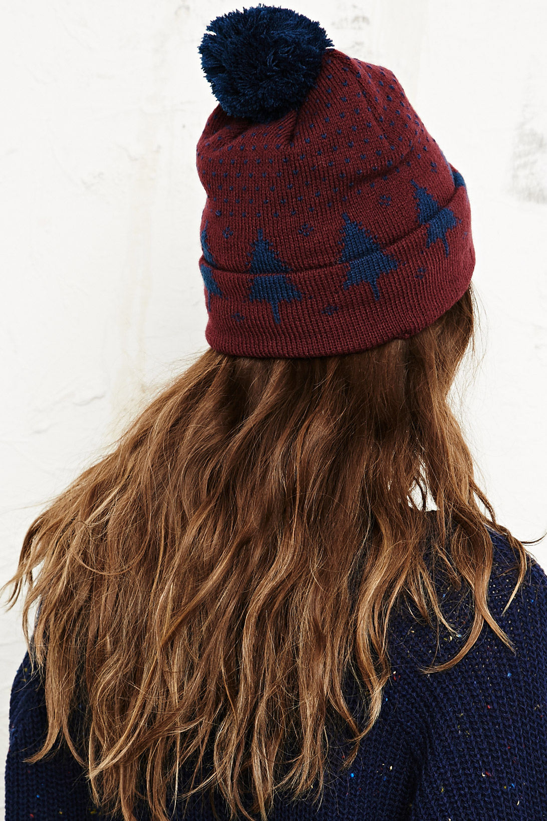 Urban Outfitters Novelty Tree Beanie Hat in Burgundy in Red - Lyst ad138862d79