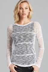 Alice + Olivia Alice Olivia Sweater Textured Double Layer - Lyst