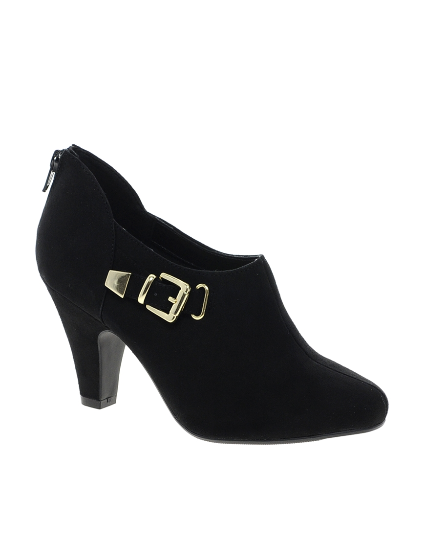 asos new look trill platform shoe boots in black lyst