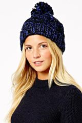 Asos New Look Color Fleck Bobble Beanie - Lyst
