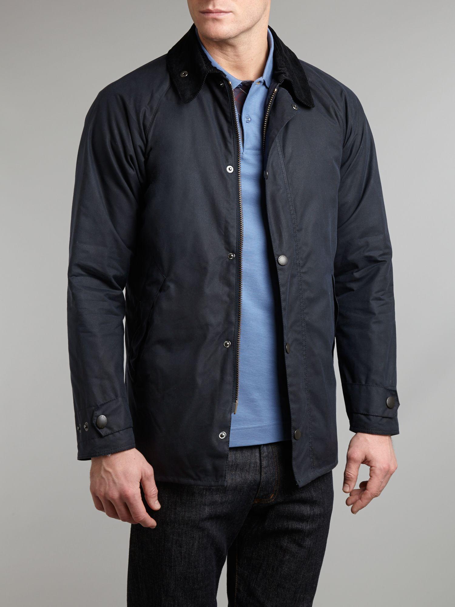 Barbour Wax Transport Jacket in Blue for Men
