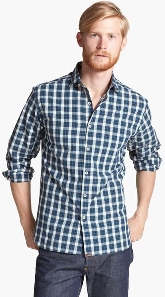 Billy Reid John T Plaid Shirt - Lyst