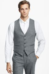 Billy Reid Campbell Herringbone Wool and Cashmere Vest - Lyst