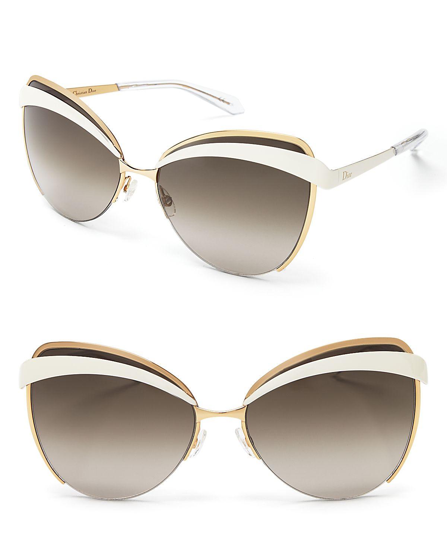 Lyst Dior Eyes Cat Eye Sunglasses In Metallic