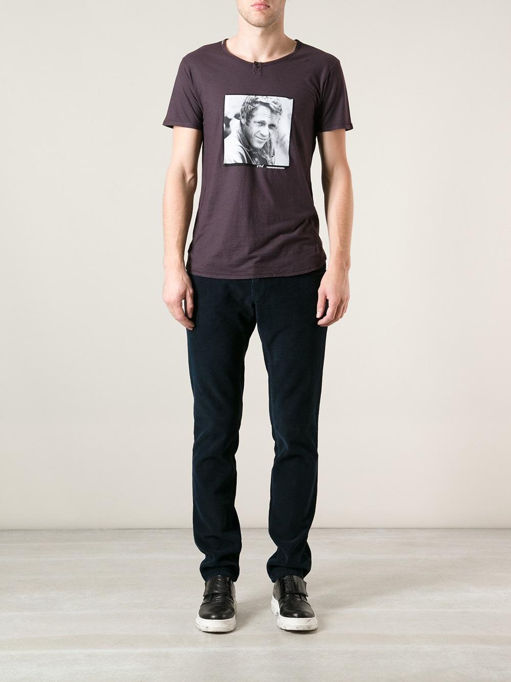 lyst dolce gabbana steve mcqueen tshirt in black for men. Black Bedroom Furniture Sets. Home Design Ideas