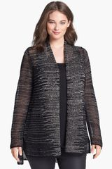 Eileen Fisher Wool Linen Cardigan - Lyst