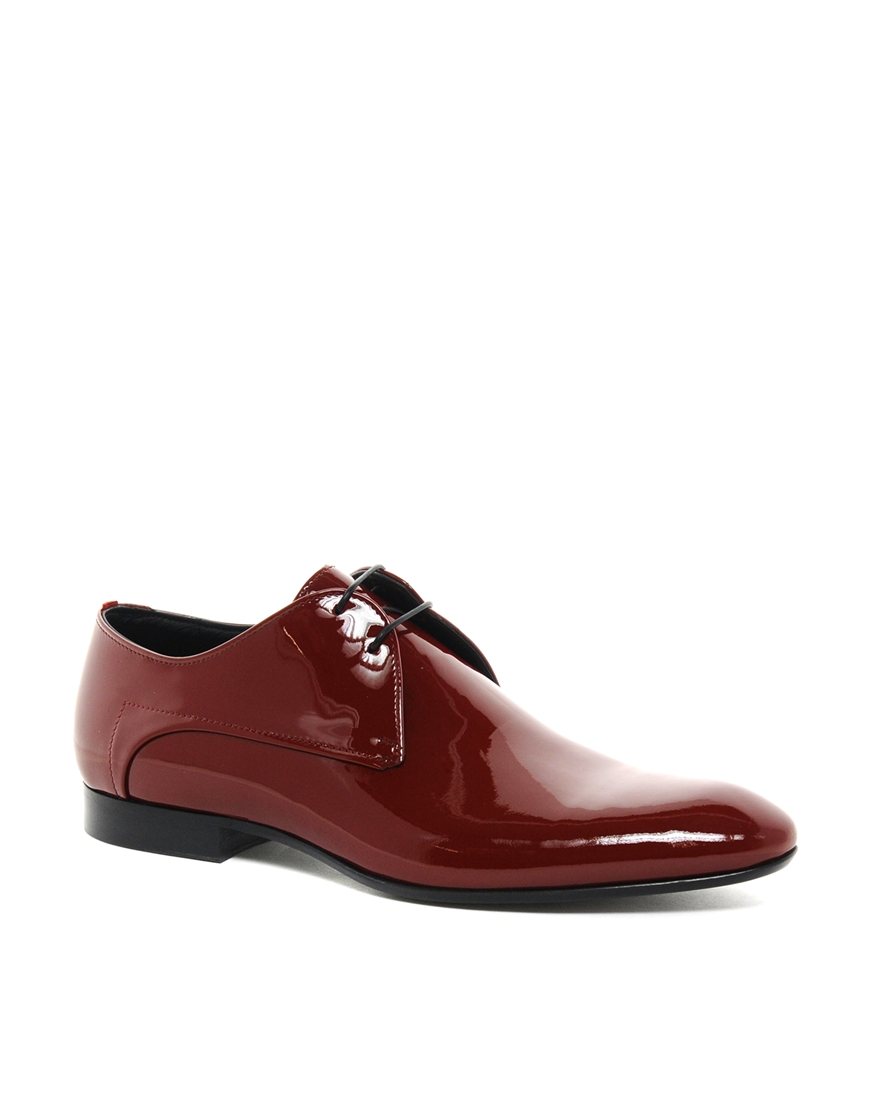 Hugo Boss Red Patent Leather Shoes