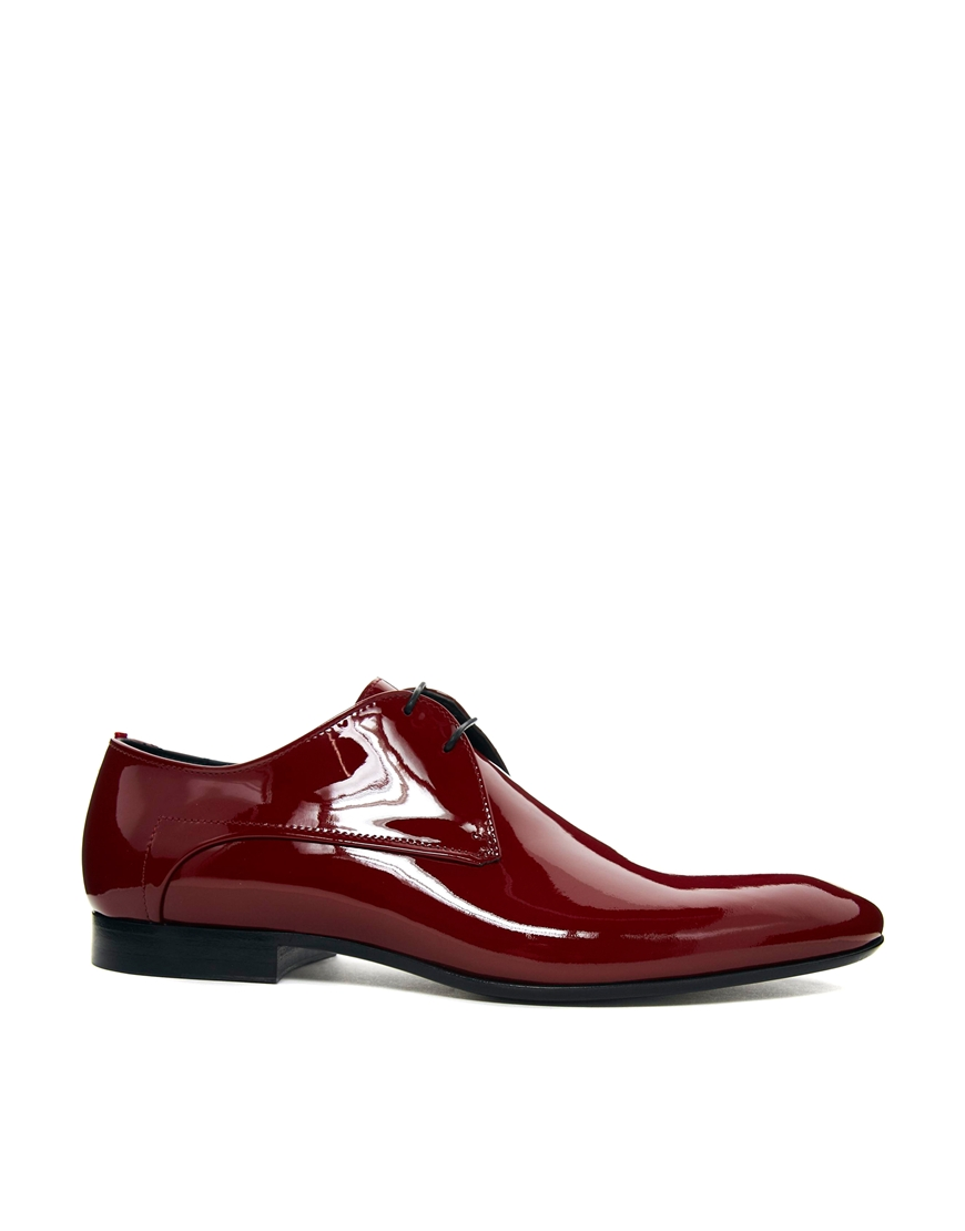 Hugo Boss Red Patent Shoes
