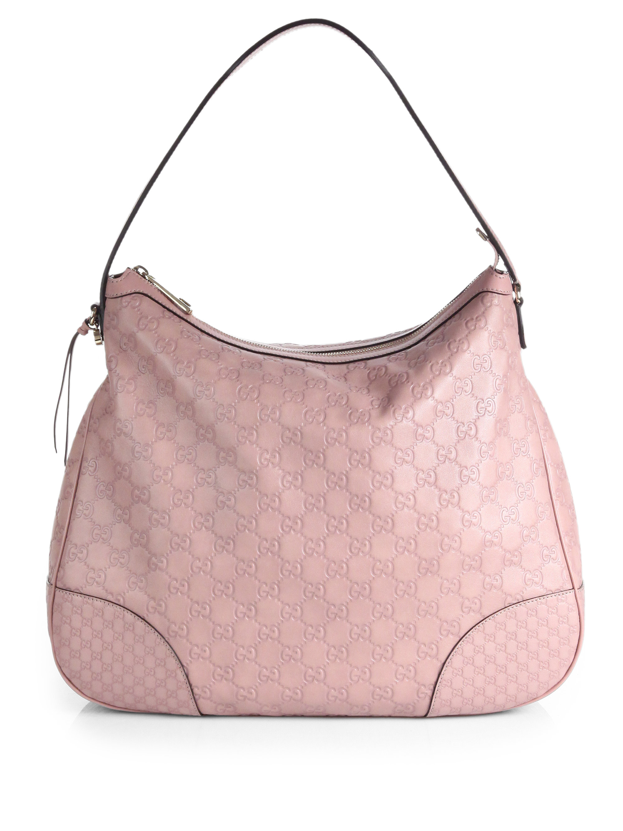 Gucci Bree Ssima Leather Hobo Bag in Pink - Lyst 30cd59905d