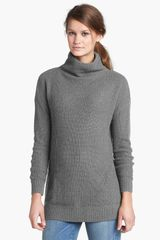 Halogen Funnel Neck Tunic Sweater - Lyst