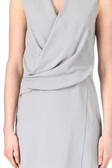 Helmut Lang Draped Dress - Lyst