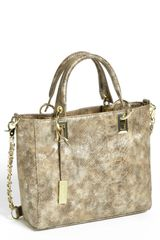 Ivanka Trump Brooke Snake Embossed Satchel - Lyst