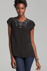 Joie Top Averly Beaded - Lyst