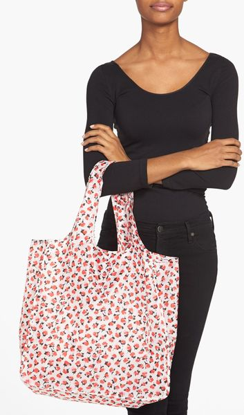 kate spade roses reusable shopping tote in multicolor