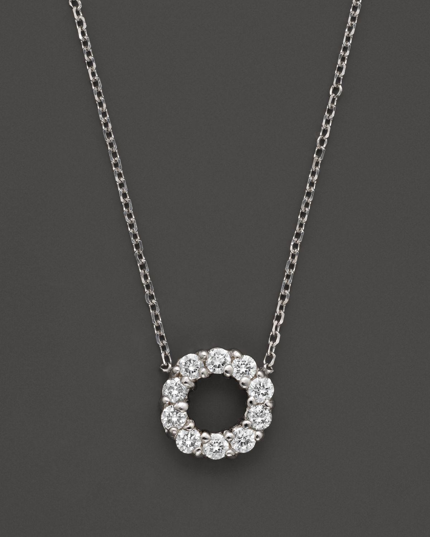 Lyst kc designs small diamond circle pendant in metallic gallery aloadofball Image collections