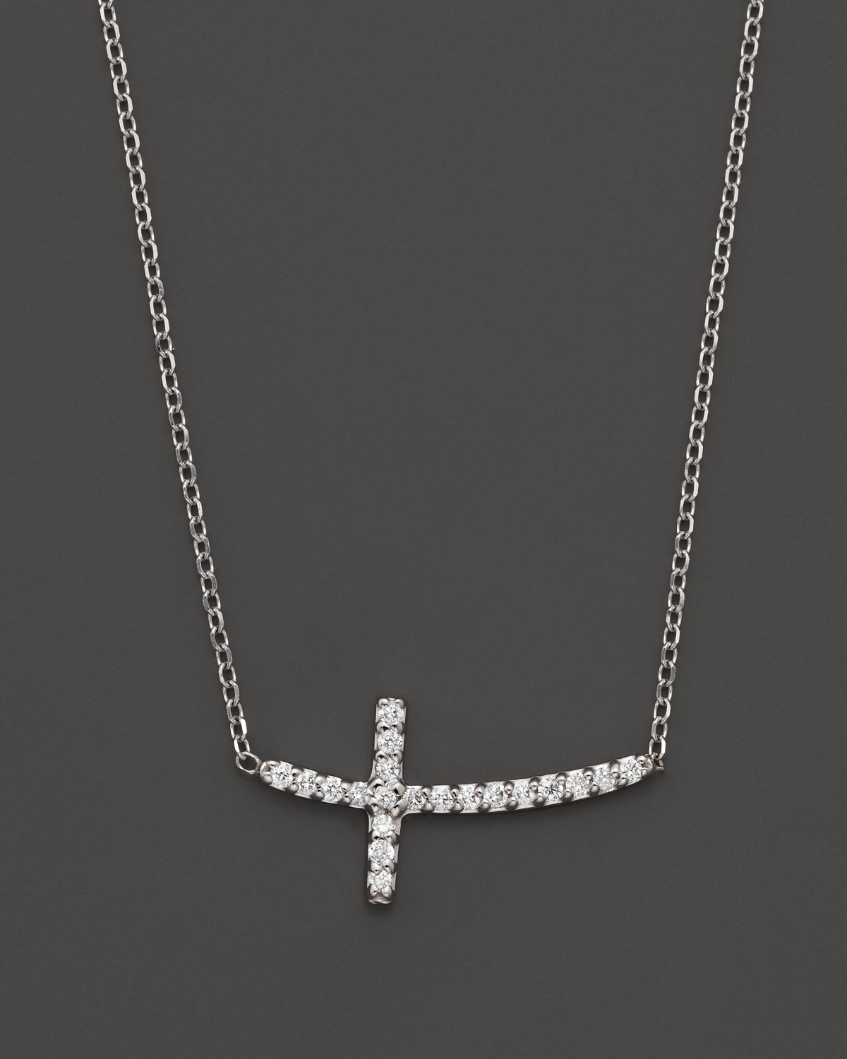 Lyst kc designs small diamond sideways cross pendant necklace in gallery previously sold at bloomingdales womens diamond cross necklaces aloadofball Image collections
