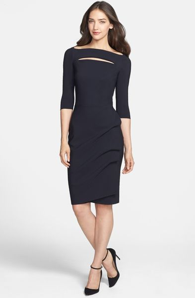 La Petite Robe Di Chiara Boni Cutout Jersey Sheath Dress