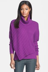 Lafayette 148 New York Dolman Sleeve Rib Sweater - Lyst