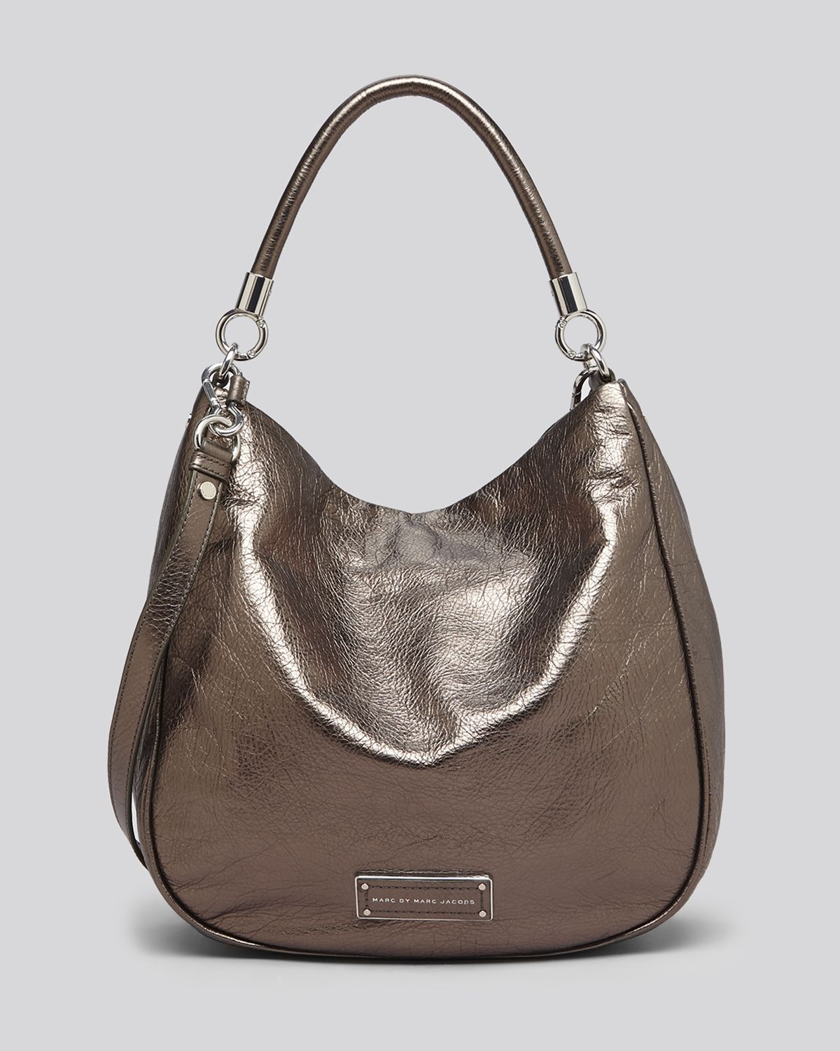marc by marc jacobs hobo too hot to handle metallic in gold gunmetal lyst. Black Bedroom Furniture Sets. Home Design Ideas