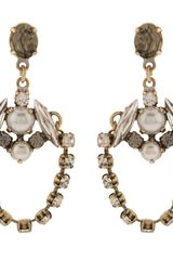 Martine Wester Stargazer Vintage Crystal Chain Earrings - Lyst