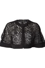 Nina Ricci Lace Cape Top - Lyst