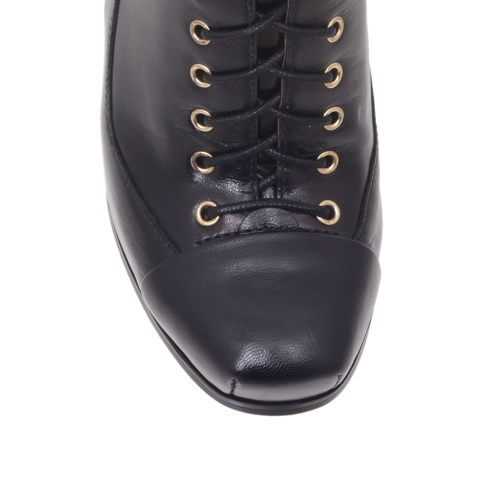 nine west oliviana high heel lace up shoe boot in black lyst