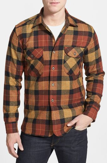 Pendleton Oliver Plaid Wool Flannel Shirt - Lyst