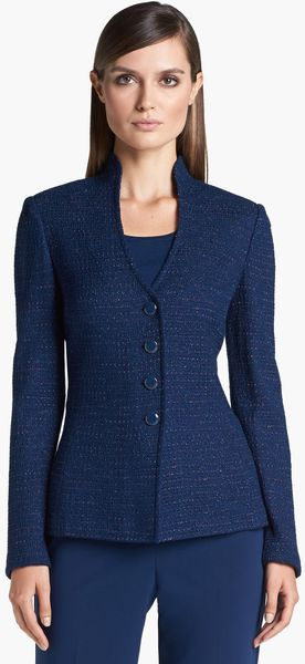St. John Collection Novelty Dot Tweed Fitted Jacket - Lyst
