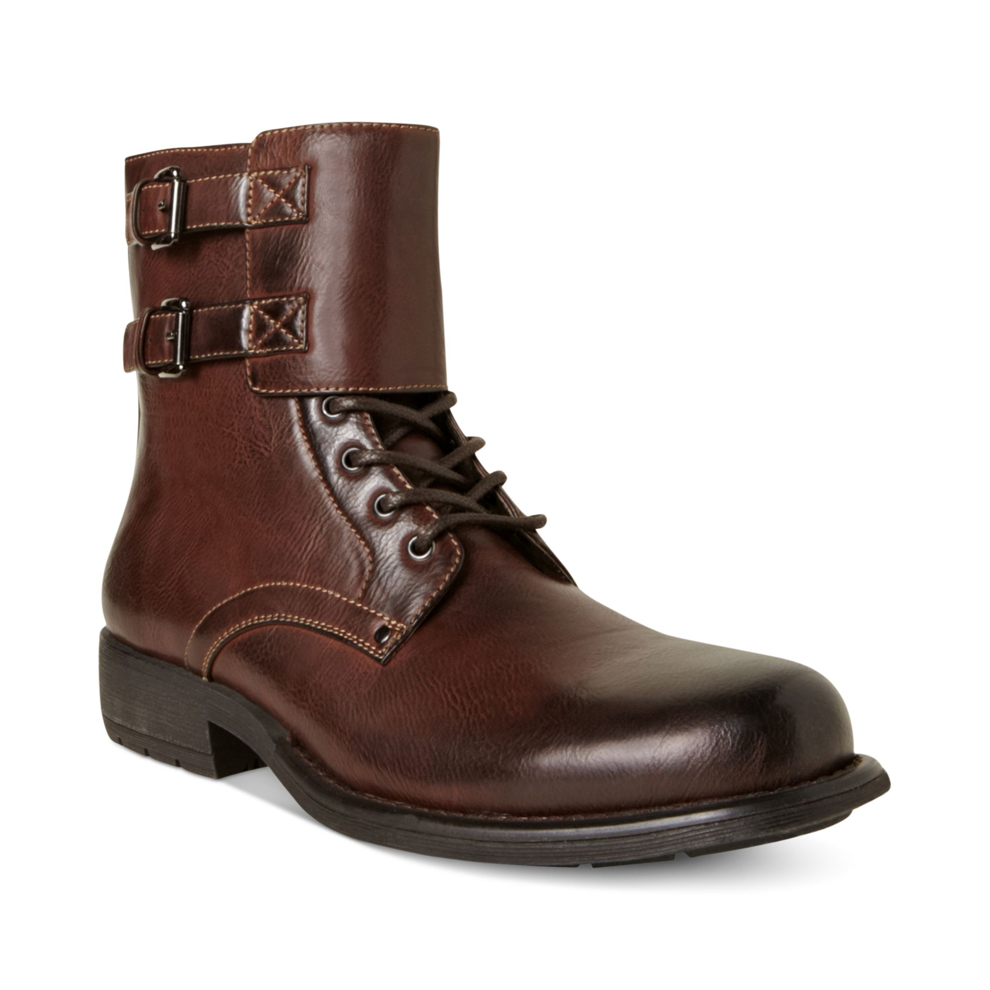 Lyst Steve Madden Pello Motorcycle Boots In Brown For Men